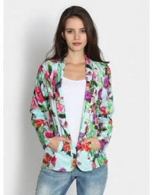Women Floral Print Casual Jacket