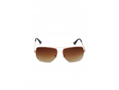 Brown Shaded Rectangle Sunglasses-TW