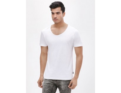 White Casual Tee-TW