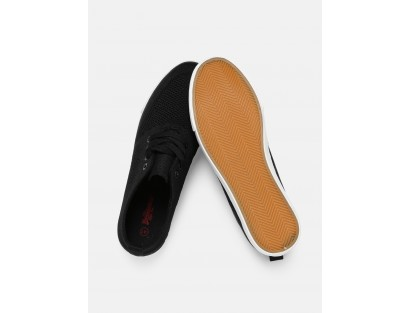 CMR Black Leather Sneakers with White Sole By Roadster