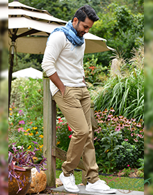 CMR Relaxed Fit Beige Chinos