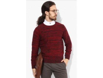 CMR Twisted Yarn Maroon and Black Sweatshirt