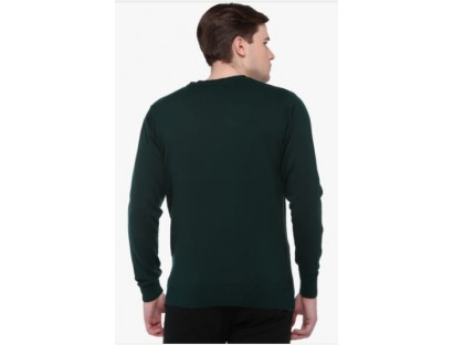 CMR Bottle Green Fine Wool Sweatshirt