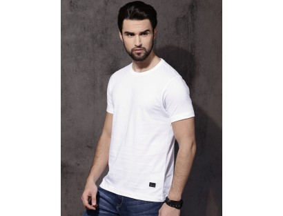 White Round Neck T-Shirt-MM
